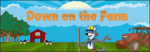 """Graphic promoting 2021 Day Camp's theme of """"Down on the Farm"""""""