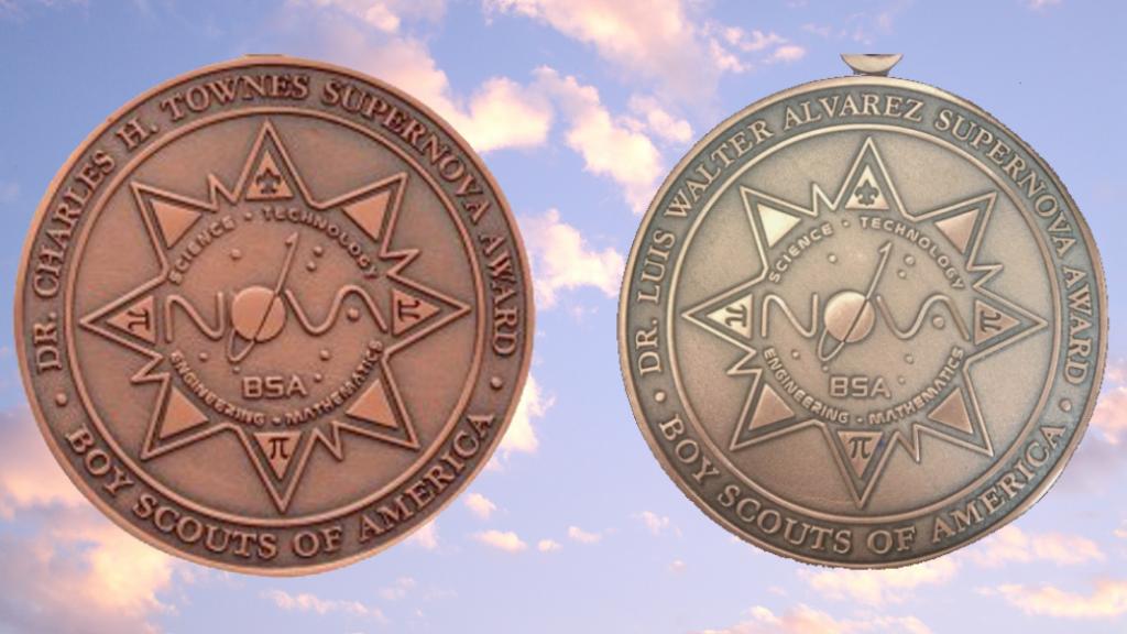 Charles Townes and Luis Alvarez STEM Nova medals