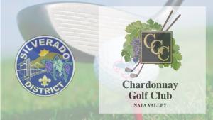 Silverado golf classic prahic with Solverado district logo and logo of Chardonay Golf Clu in Napa Valley